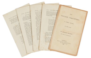 Dickens, The Village Coquettes, 1836, first edition, original unbound sheets