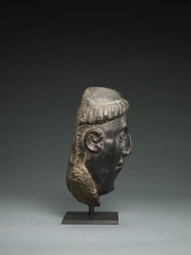 View 3. Thumbnail of Lot 6. IRISH, CIRCA 11TH CENTURY | HEAD OF A BISHOP SAINT.