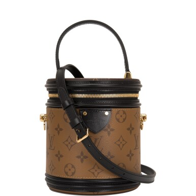 Louis Vuitton Cannes Bag of Reverse Monogram Canvas with Golden Brass Hardware