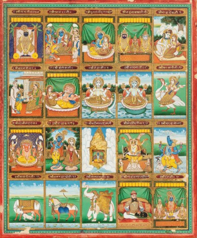 View 7. Thumbnail of Lot 35. RAJASTHAN, 19TH CENTURY | SEVEN INDIAN MINIATURES.