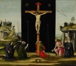 Christ on the Cross adored by Saints Monica, Augustine, Mary Magdalen, Jerome and Bridget of Sweden | 《聖莫尼卡、聖奧古斯丁、聖瑪利亞・瑪達肋納、聖傑羅姆及瑞典聖畢哲敬拜十字架上的耶穌》
