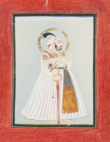View 3. Thumbnail of Lot 66. INDIA, RAJASTHAN AND PUNJAB, 19TH CENTURY | TWO PORTRAITS AND TWO GATHERINGS.
