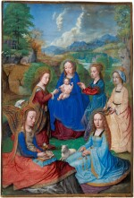 The Virgo inter virgines in a landscape, on vellum pasted to panel [Flemish (Simon Bening, Bruges?), c.1530–40]