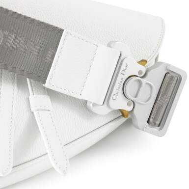 View 5. Thumbnail of Lot 71. White Saddle Bag in Calfskin Leather, 2019.