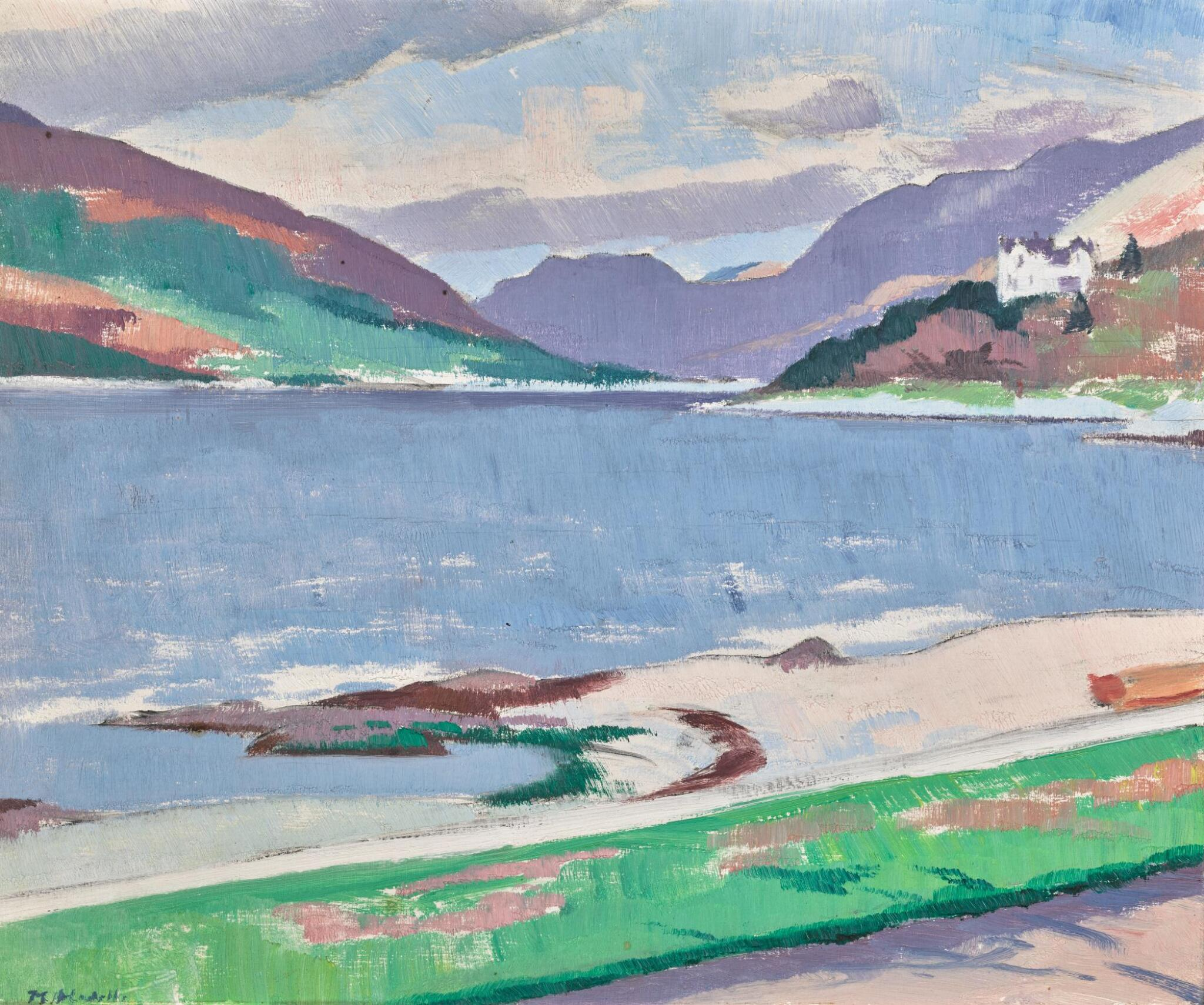 View full screen - View 1 of Lot 33. FRANCIS CAMPBELL BOILEAU CADELL, R.S.A., R.S.W.   COVE, LOCH LONG.