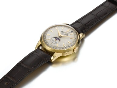 View 2. Thumbnail of Lot 366. ROLEX   PADELLONE, REF 8171, YELLOW GOLD WRISTWATCH WITH DAY, DATE, MONTH AND MOONPHASE, CIRCA 1952.