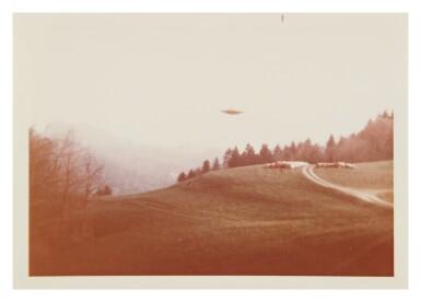 "UFO SIGHTING. 6 VINTAGE PHOTOS TAKEN BY ""BILLY"" EDUARD ALBERT MEIER IN SWITZERLAND FROM 3 MARCH-14 JUNE 1975."