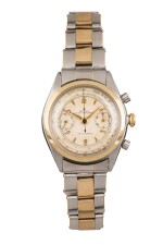 ROLEX | Pre-Daytona, Ref 4500 A Stainless Steel and Yellow Gold Chronograph Wristwatch with Bracelet 1947