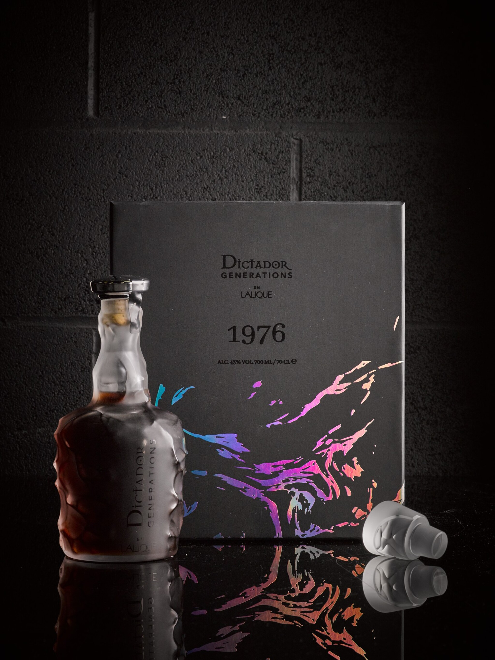 View 1 of Lot 39. Dictador Generations In Lalique 'The Proof Bottle' 43.0 abv 1976 .