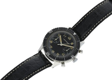 View 6. Thumbnail of Lot 116. TIPO CP-1 A RARE STAINLESS STEEL FLY BACK CHRONOGRAPH WRISTWATCH WITH HACKING MINUTES MADE FOR THE ITALIAN NAVY, CIRCA 1964.