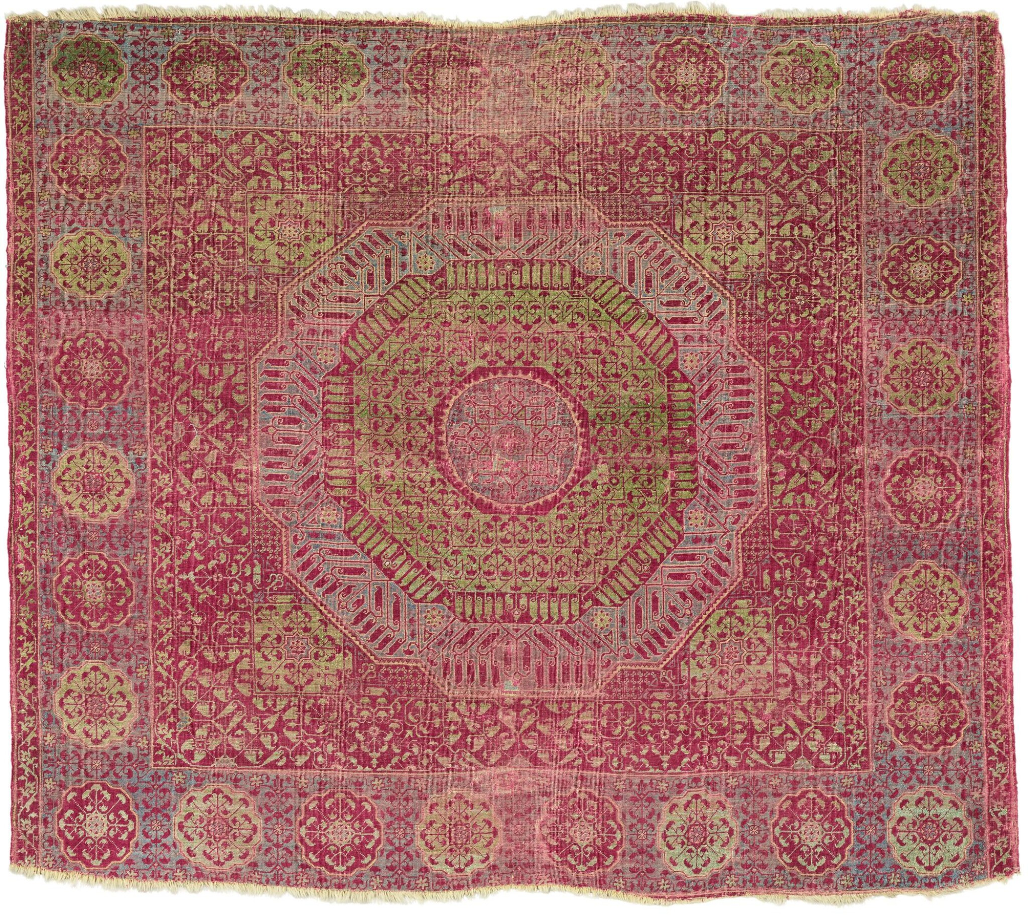 View full screen - View 1 of Lot 448. A MAMLUK CARPET, EGYPT, PROBABLY CAIRO, SECOND HALF 15TH CENTURY OR EARLY 16TH CENTURY.