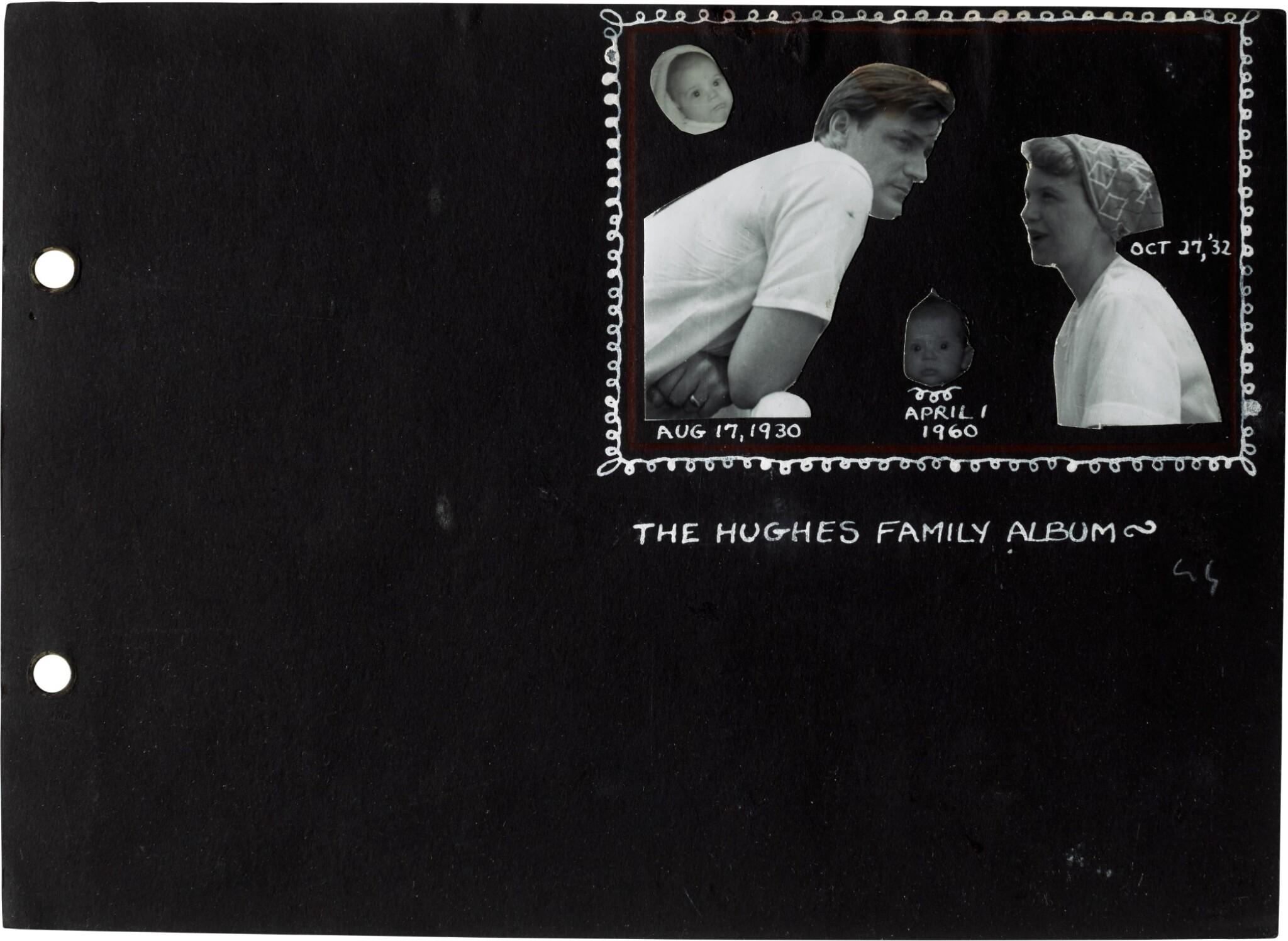 "View full screen - View 1 of Lot 49. Sylvia Plath | Family photograph album (""The Hughes family Album""), 1957-1962."