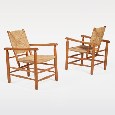 View 1. Thumbnail of Lot 83. Pair of Armchairs, Model No. 21.