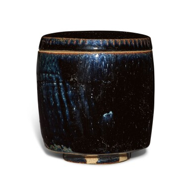 View 1. Thumbnail of Lot 198. A black-glazed cylindrical jar and cover, Northern Song / Jin dynasty | 北宋 / 金 黑釉蓋罐.
