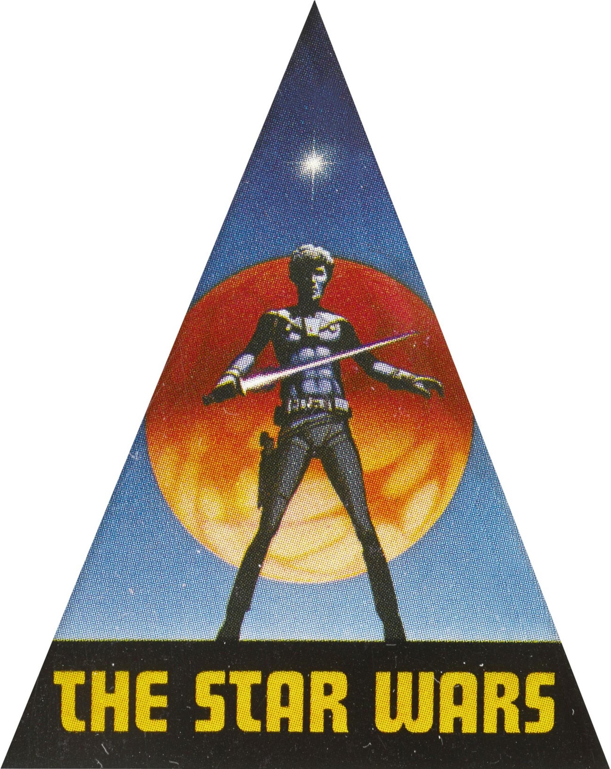 STAR WARS, ADVANCE UNUSED STICKER (DECAL), RALPH MCQUARRIE, 1975