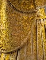GUO PEI   GOLD CHINESE TRADITIONAL BRIDAL DRESS