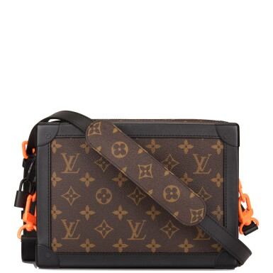 Louis Vuitton Monogram Soft Trunk of Coated Canvas with Black and Orange Hardware