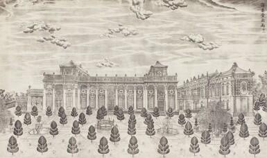 View 7. Thumbnail of Lot 362. A SET OF TWENTY PRINTS OF PALACES, PAVILIONS AND GARDENS AT YUANMING YUAN | 巴黎、1977年 《郎世寧圓明園西洋樓》 一組二十幅 水墨紙本.