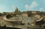 A view of San Pietro di Roma and the colonnade