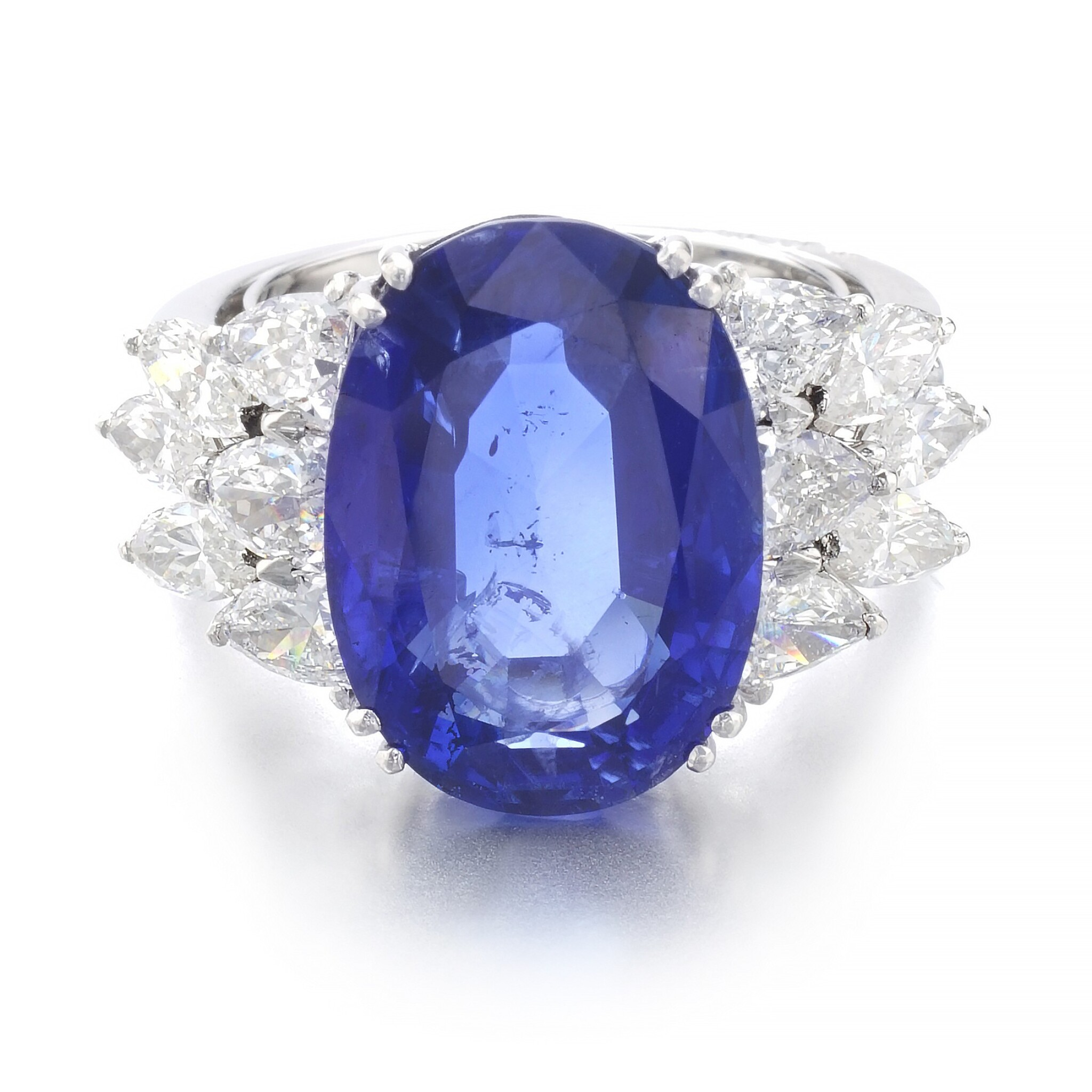 View 1 of Lot 1015. Sapphire and diamond ring.