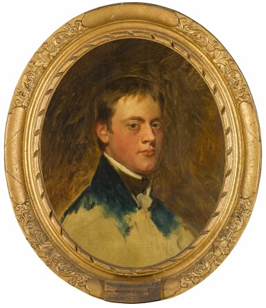 View 2. Thumbnail of Lot 172. Portrait study of Norton Joseph Knatchbull (1783-1801), bust-length, wearing a blue coat.