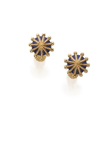PAIR OF GOLD AND ENAMEL CUFFLINKS, SCHLUMBERGER FOR TIFFANY & CO.