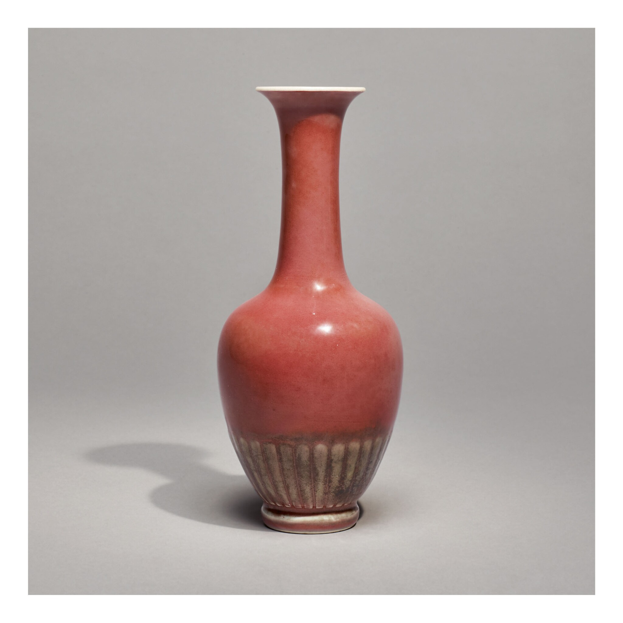 View full screen - View 1 of Lot 116. A RARE PEACHBLOOM-GLAZED 'CHRYSANTHEMUM' VASE,  KANGXI MARK AND PERIOD.