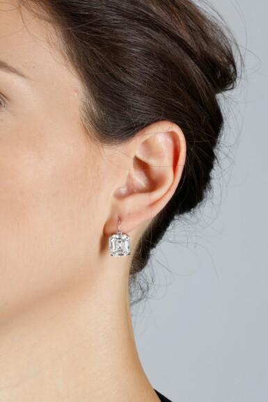 View 4. Thumbnail of Lot 10. GRAFF | PAIR OF DIAMOND EARRINGS.