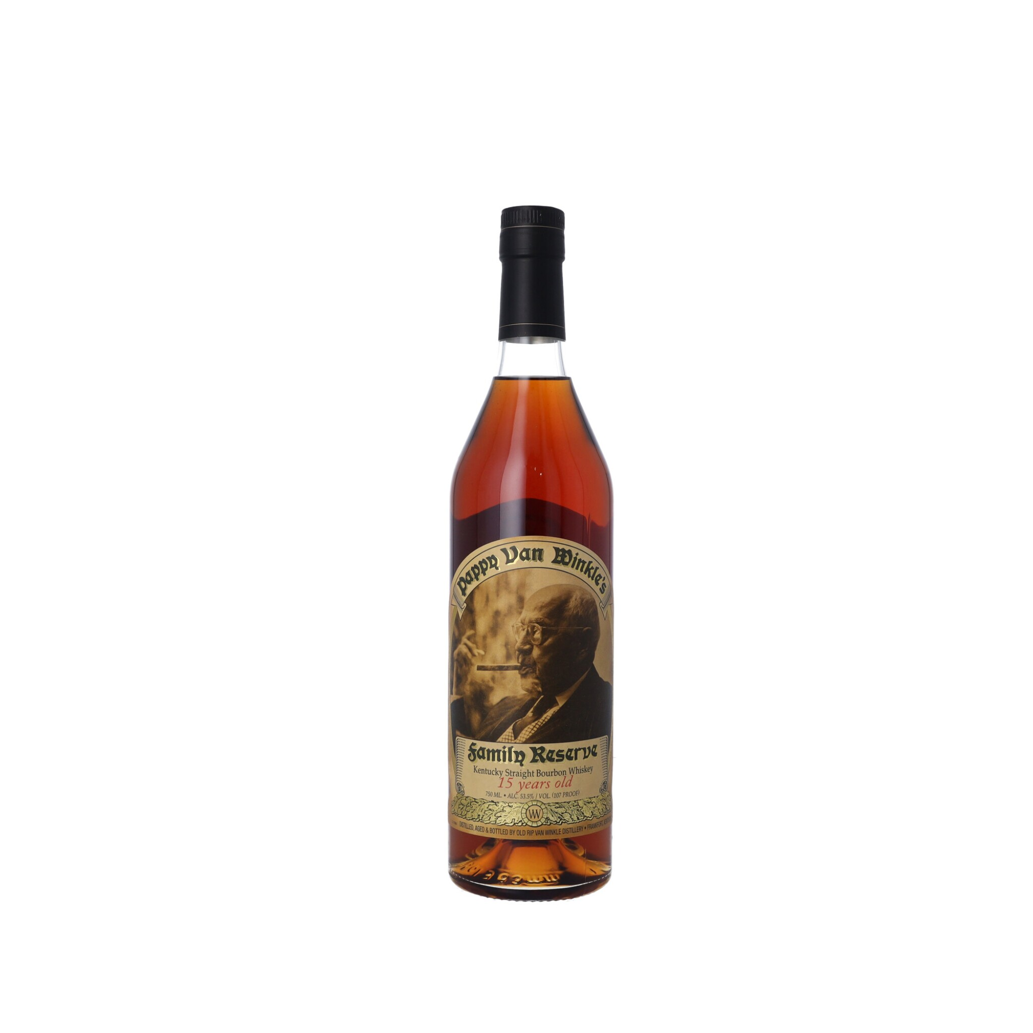 View full screen - View 1 of Lot 172. Pappy Van Winkle's 15 Year Old Family Reserve 107 proof NV (1 BT75) .