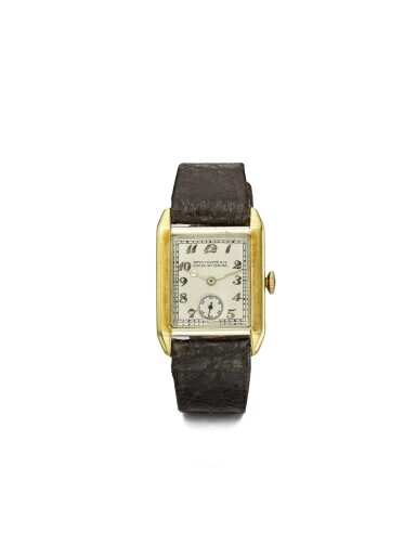 PATEK PHILIPPE | RETAILED BY GUBELIN: A YELLOW AND WHITE GOLD RECTANGULAR WRISTWATCH MADE IN 1926