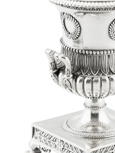 View 3. Thumbnail of Lot 302. A French silver small vase, Jean-Baptiste-Claude Odiot, Paris, 1819-1826 | Petit vase en argent par Jean-Baptiste-Claude Odiot, Paris, 1819-1826.