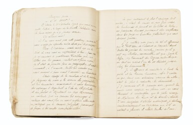"""View 2. Thumbnail of Lot 90. [NOUVELLE-CALEDONIE]. Manuscrit autographe """"Une évasion du bagne"""", 1927. Cahier in-8 (étui moderne), 75 p.."""