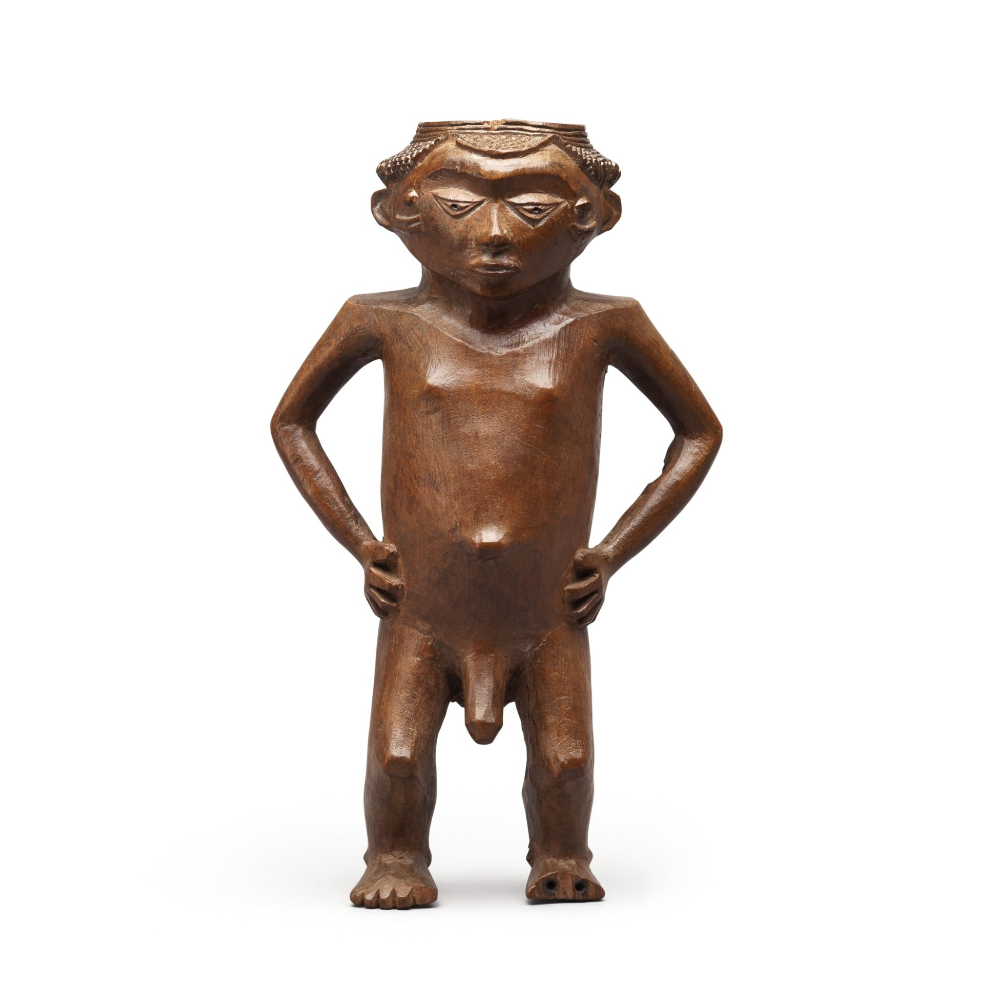 View full screen - View 1 of Lot 182. Democratic Republic of Congo, Pende or Wongo Peoples, late 19th century   Anthropomorphic Cup .