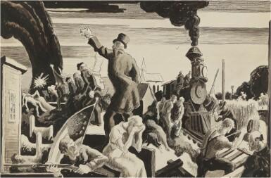 View 1. Thumbnail of Lot 35. The Civil War–Industrial Progress.