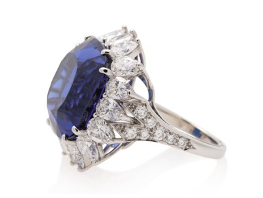 View 2. Thumbnail of Lot 44. TIFFANY & CO. | TANZANITE AND DIAMOND RING.