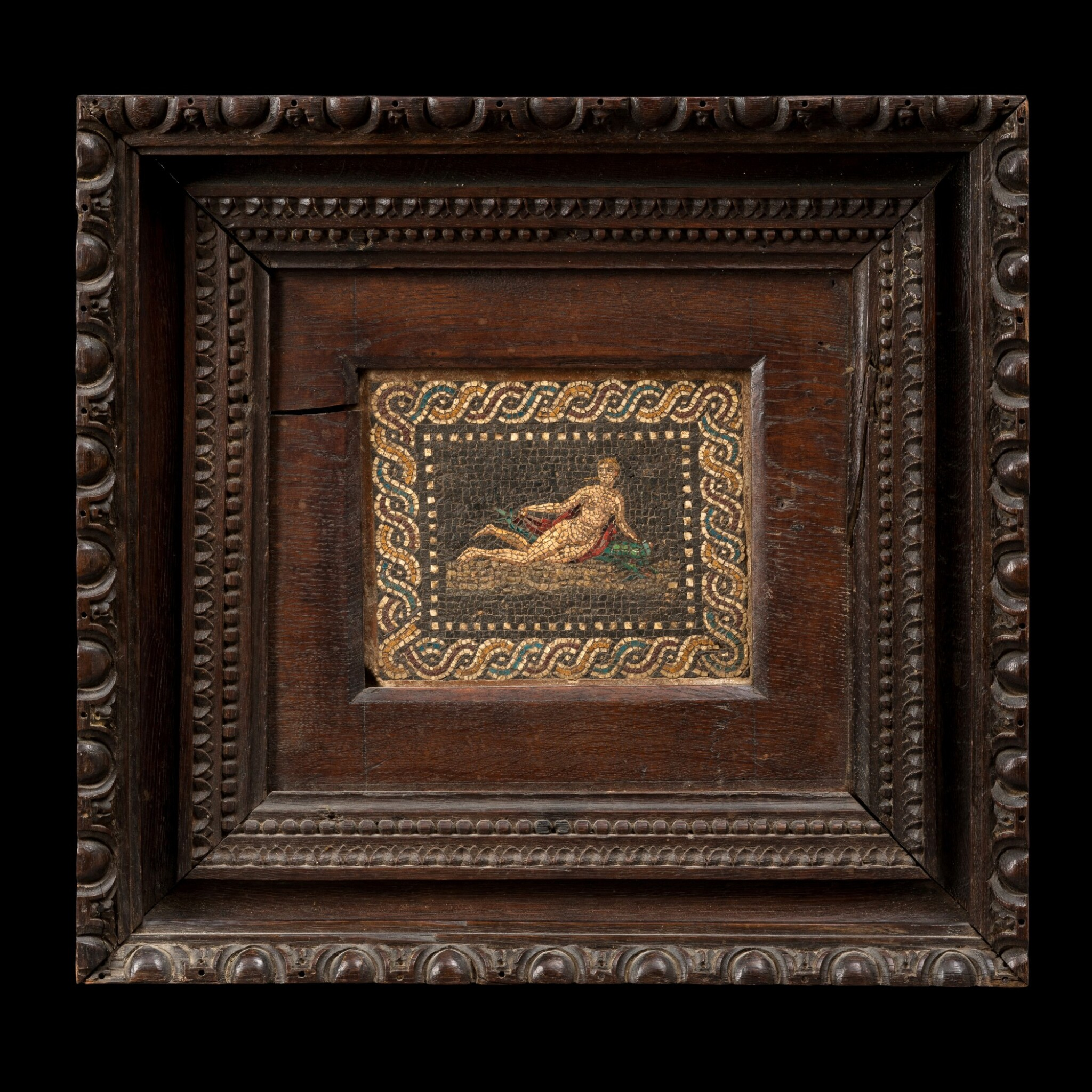 View 1 of Lot 117. Italian, early 19th century | Mosaic with Venus on a Dolphin.