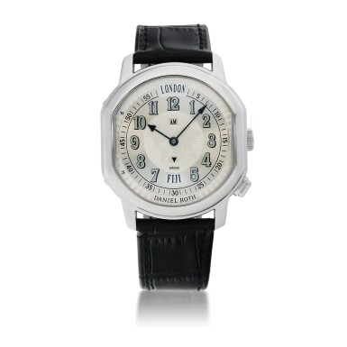 DANIEL ROTH  | METROPOLITAN 24 CITIES, REF 875.X.10   STAINLESS STEEL WORLD-TIME WRISTWATCH WITH AM/PM INDICATION   CIRCA 2005