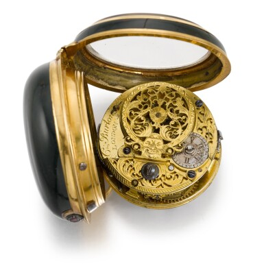 View 2. Thumbnail of Lot 273. C. BURTON, LONDON   A GOLD AND BLOODSTONE VERGE WATCH WITH ASSOCIATED DIAL, CIRCA 1790.