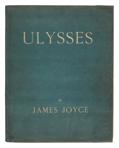 View 1. Thumbnail of Lot 89. Joyce, James   A first edition of Joyce's Ulysses.