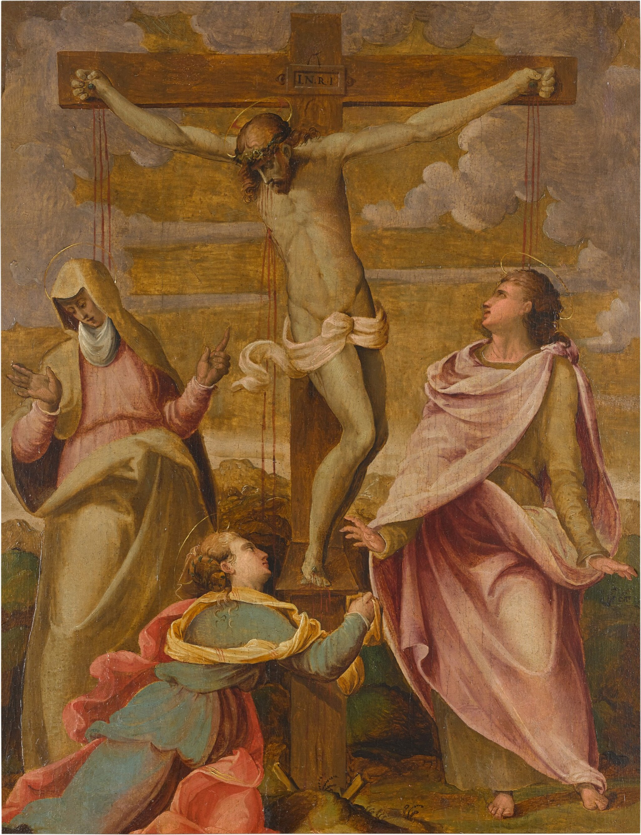 View full screen - View 1 of Lot 3. FLORENTINE SCHOOL, 16TH CENTURY | THE CRUCIFIXION.