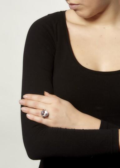 View 4. Thumbnail of Lot 86. MORGANITE AND DIAMOND RING.
