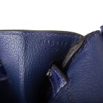 "Hermès Bleu Encre ""Touch"" Birkin 30cm of Shiny Niloticus Crocodile and Togo Leather with Palladium Hardware"