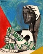 Pablo Picasso 巴布羅・畢加索 | Femme Accroupie 抱膝女子