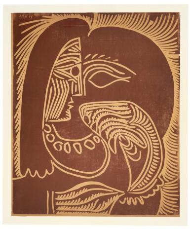 View 1. Thumbnail of Lot 132. PABLO PICASSO  |  PORTRAIT DE JACQUELINE ACCOUDÉE, AU COLLIER (B. 928; BA. 1258; PP. L-078).