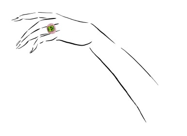 View 4. Thumbnail of Lot 6. MICHELE DELLA VALLE | PERIDOT AND PINK SAPPHIRE RING.