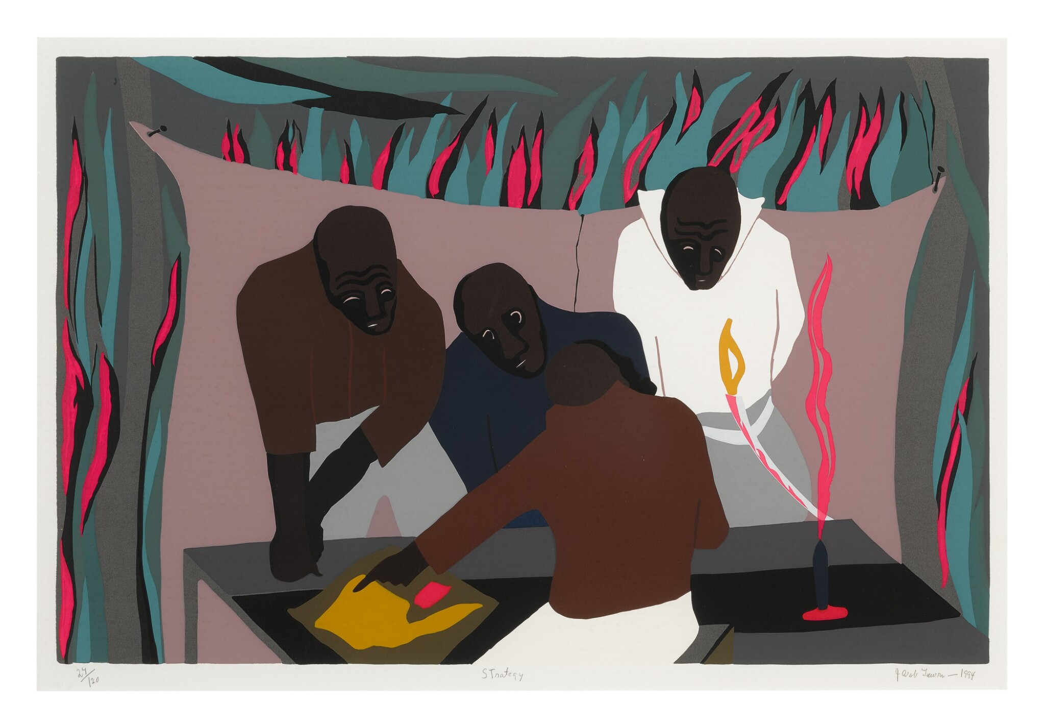 View full screen - View 1 of Lot 249. JACOB LAWRENCE | STRATEGY (NESBETT L94-4).