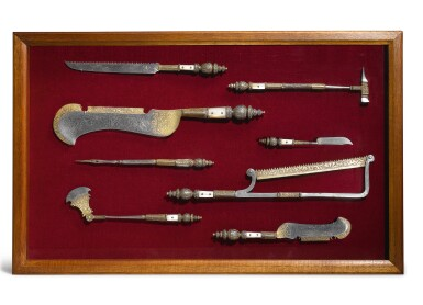 View 1. Thumbnail of Lot 740. Eight Surgeon's tools.