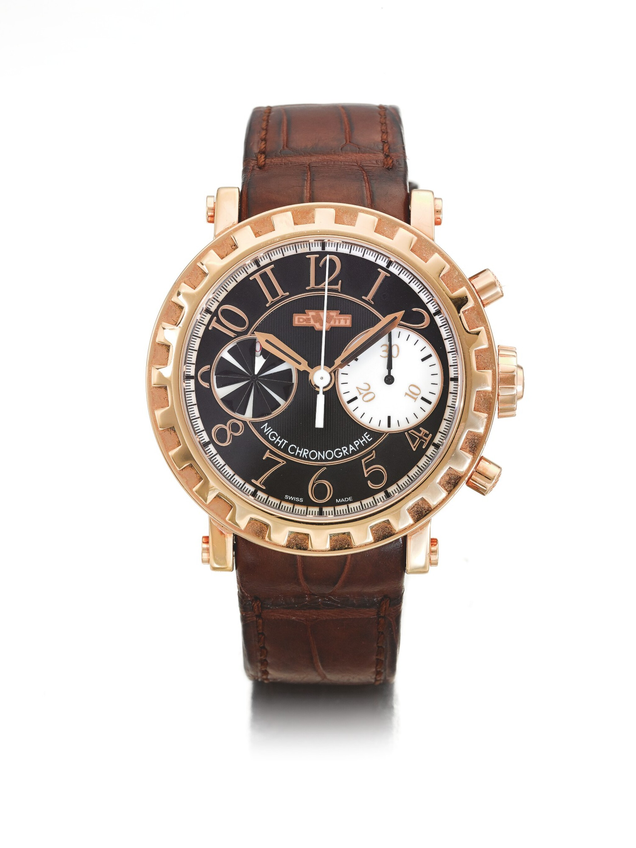 DEWITT | REF 6005.53 NIGHT CHRONOGRAPHE, A LIMITED EDITION PINK GOLD AUTOMATIC CHRONOGRAPH WRISTWATCH CIRCA 2005