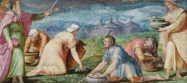 View 3. Thumbnail of Lot 129. GIOVANNI BATTISTA NALDINI  |  MANNA FROM HEAVEN; THE STONING OF ST. STEPHEN.
