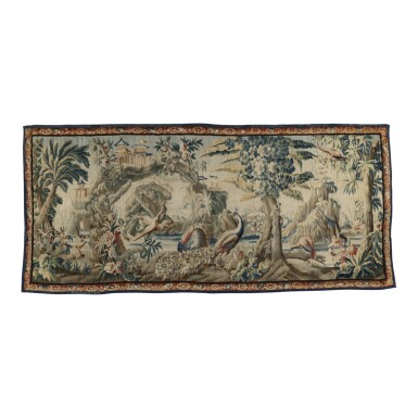 FRENCH, AUBUSSON, 'CHINOISERIE' TAPESTRY 18TH CENTURY